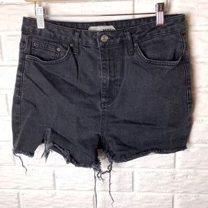 😊 Topshop Moto Jean Shorts Size 30 Cut Offs Black